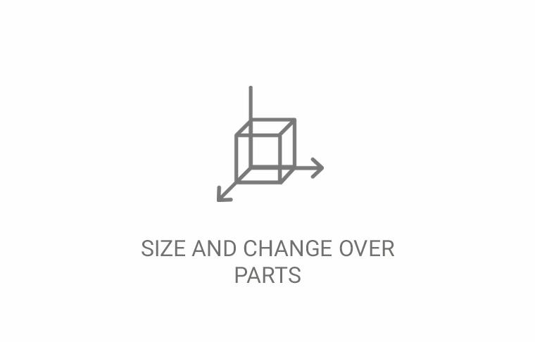 Size and change over parts
